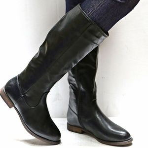 New Black Western Knee High Riding Boots